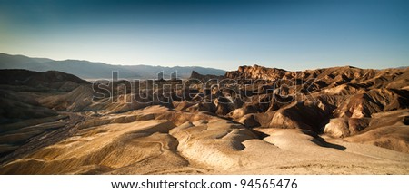 Death Valley view from the Zabriskie point - stock photo