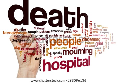 Death word cloud - stock photo