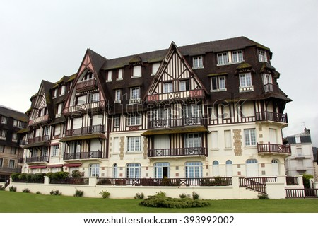 Deauville city in Normandy, France - stock photo
