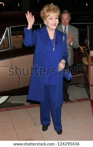 "Debbie Reynolds at the tribute show ""Hollywood Salutes June Allyson"". The El Portal Theatre, Los Angeles, California. Novermber 2, 2006."