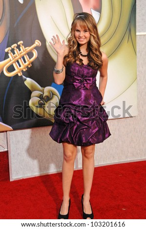 "Debby Ryan  at the ""The Princess And The Frog"" World Premiere, Walt Disney Studios, Burbank, CA. 11-15-09 - stock photo"