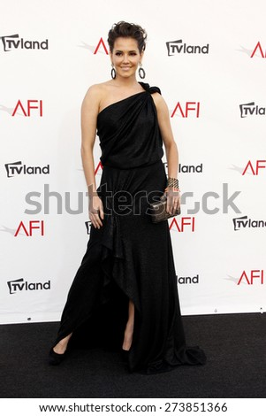 Deborah Secco at the 40th AFI Life Achievement Award Honoring Shirley MacLaine held at the Sony Studios in Los Angeles on June 7, 2012. - stock photo