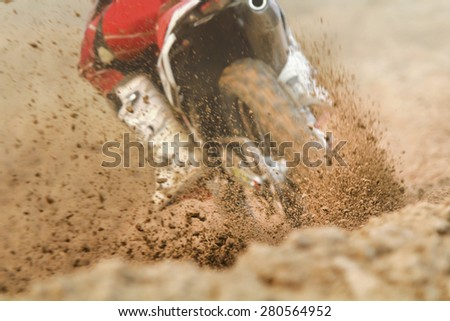 Debris from a motocross race - stock photo