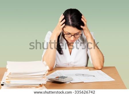 Debt. - stock photo