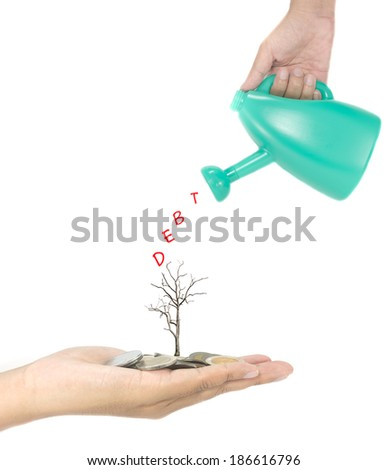 Debt concept - stock photo