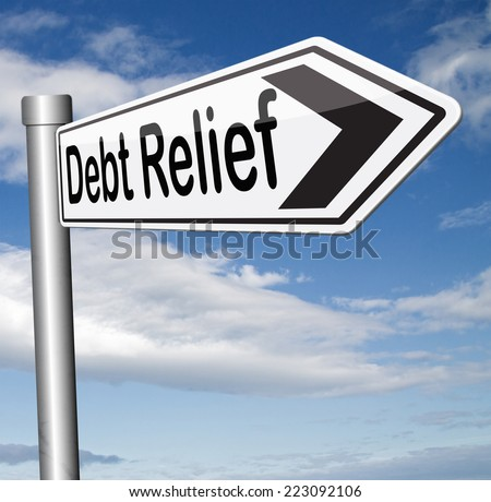 debt relief after bankruptcy caused by credit or housing bubbles restructuring finance after economic or bank crisis  - stock photo
