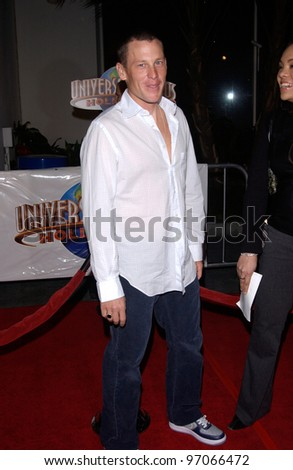 Dec 16, 2004; Los Angeles, CA: Cyclist LANCE ARMSTRONG at the Los Angeles premiere of Meet the Fockers. - stock photo
