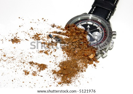 decaying watch - stock photo
