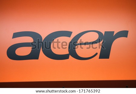 "DECEMBER 2013 - BERLIN: the logo of the brand ""Acer"", Berlin."