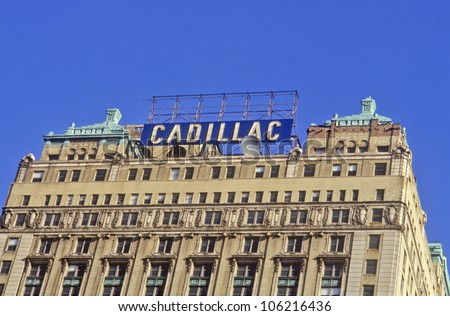 DECEMBER 2004 - Cadillac Building in downtown Detroit, MI - stock photo