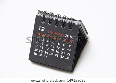december calendar - stock photo