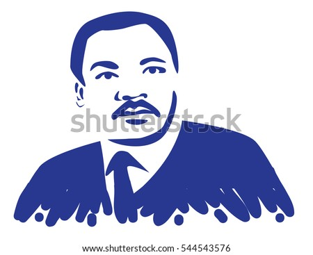DECEMBER 28, 2016: Illustrative editorial stylized portrait or Dr. Martin Luther King Jr.