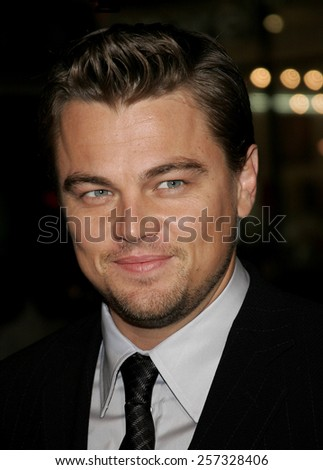 "December 6, 2006. Leonardo DiCaprio attends the Los Angeles Premiere of ""Blood Diamond"" held at the Grauman's Chinese Theatre in Hollywood, California United States."