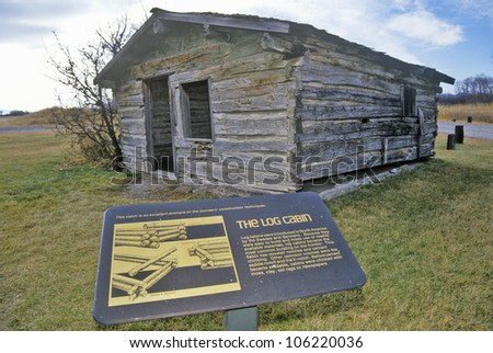 DECEMBER 2004 - 2nd Gallatin city Ghost town, 3 Forks, MT at beginning of Missouri River - stock photo