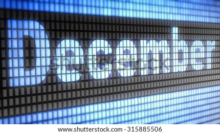 December sign - stock photo
