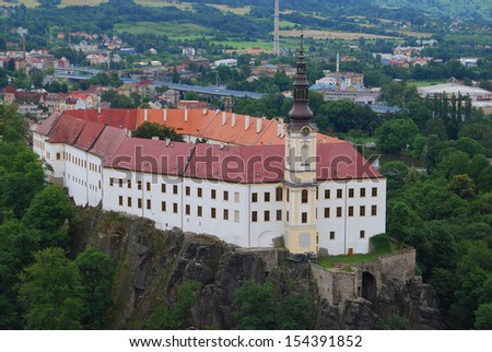 Decin Castle, castle in Czech Republic - stock photo