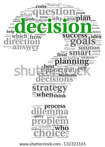Decision Making Concept Tag Cloud On Stock Illustration 132323165 ...