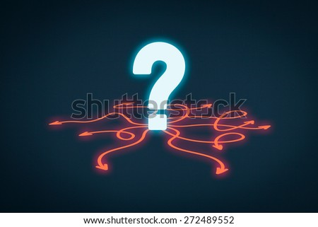 Decision making (management decisions), opportunity, faq and questions concepts.  - stock photo