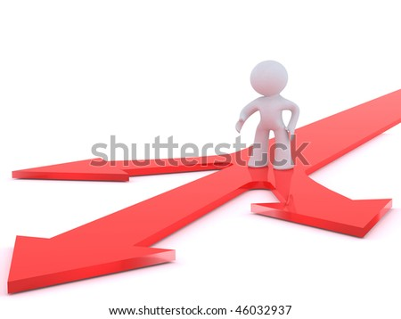 Decision point - stock photo