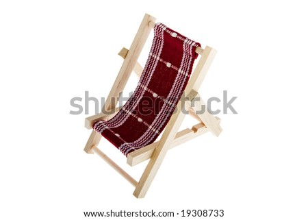 Deck chair as an object isolate