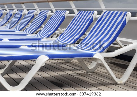Deck Chairs on a cruise ship.