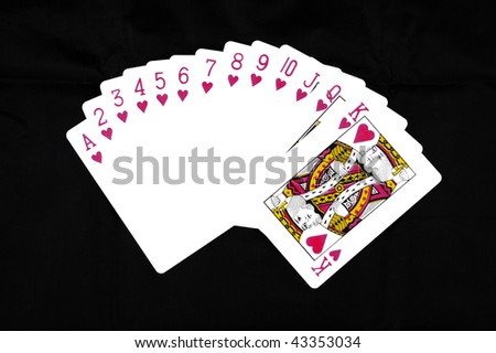 Deck of Hearts - stock photo