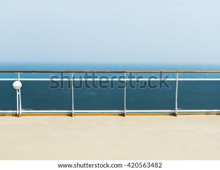 deck of luxury cruise ship - stock photo