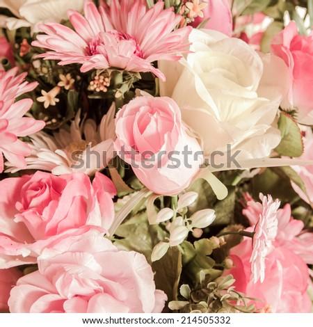 decor bouquet of flowers background - stock photo