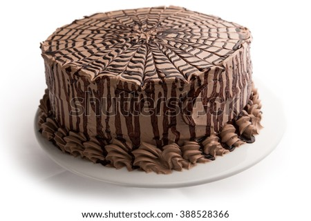 Decorated Chocolate Cake - stock photo