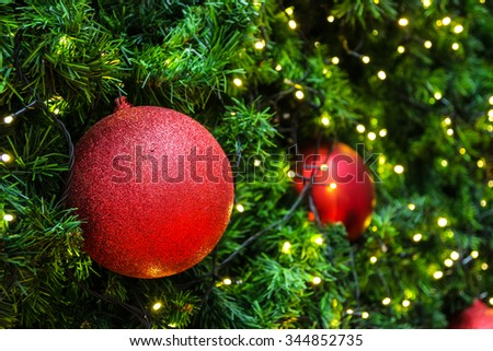 Decorated Christmas Balls Glamorous Decorated Christmas Tree Electric Light Christmas Stock Photo Review
