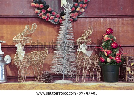 decorated for Christmas - stock photo