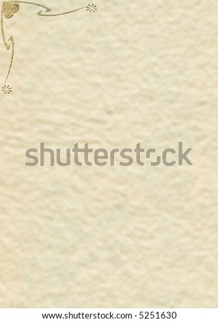 Decorated old notepaper - stock photo