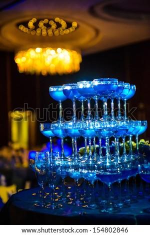 Decorated wedding celebration. - stock photo
