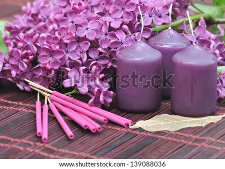Purple Candle Stock Images Royalty Free Images Amp Vectors