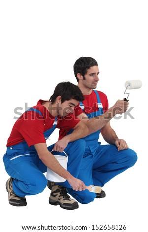 Decorating duo - stock photo