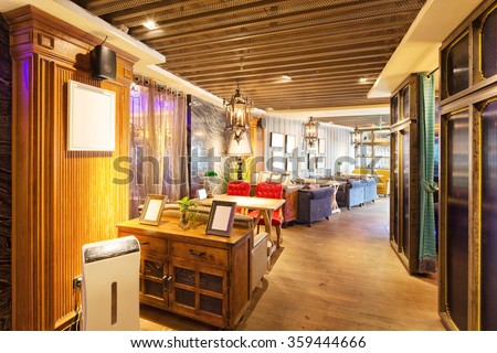 decoration and furniture in cafe