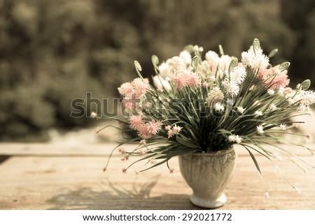 Decoration artificial flower (vintage) - stock photo