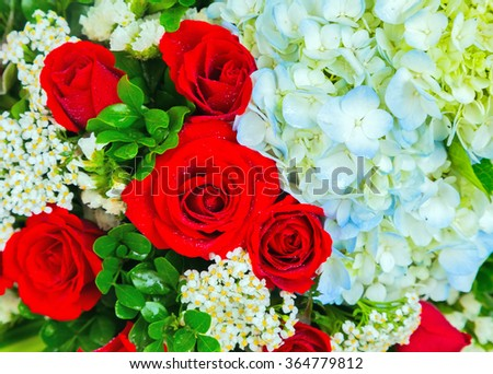decoration Bunch of flowers, floral bouquet background