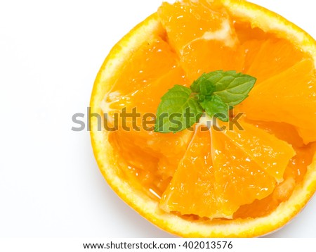 Decoration cutting orange