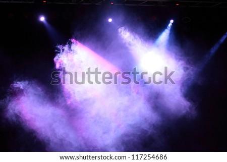 Decoration of concert lighting - stock photo