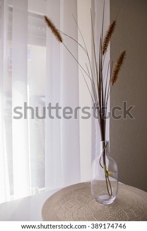Decoration of reeds branches. - stock photo
