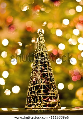 decoration representing christmas tree