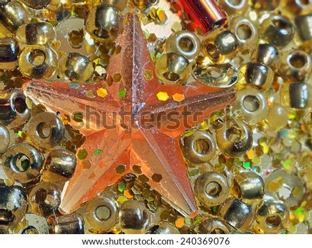 Decoration star on christmas bauble