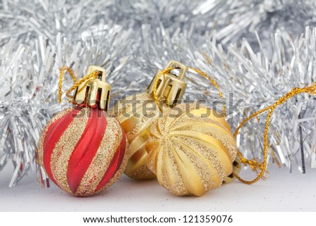 decoration toys for christmas tree - stock photo
