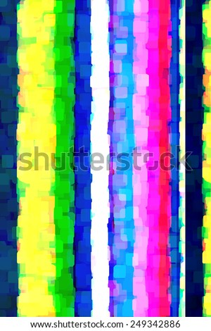 Decorative abstract of stripes, composed of overlapping opaque squares with clipped corners, for pop-art effect with hints of grunge - stock photo