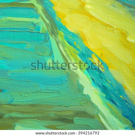 decorative abstract oil painting on canvas, illustration - stock photo