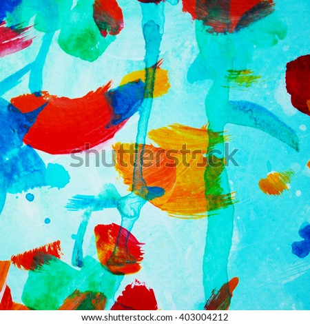 decorative abstract watercolor painting  ,pattern, template, illustration