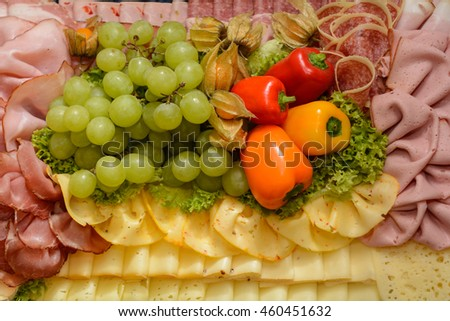 decorative and deliciously prepared cold dish - stock photo