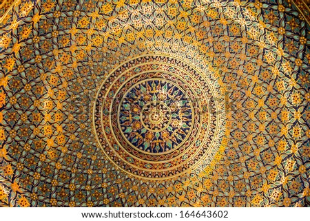 Decorative Art of Thai  background  - stock photo