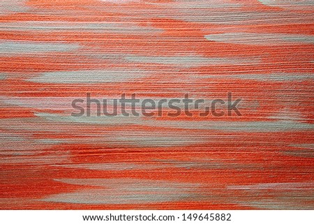 Decorative background copper with horizontal structures - stock photo